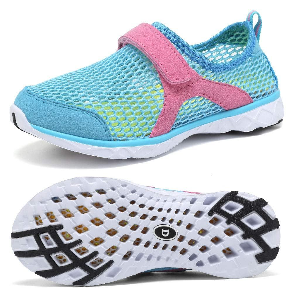 WALUCAN Boys /& Girls Water Shoes Quick Drying Sports Aqua Athletic Sneakers Lightweight Sport Shoes Toddler//Little Kid//Big Kid