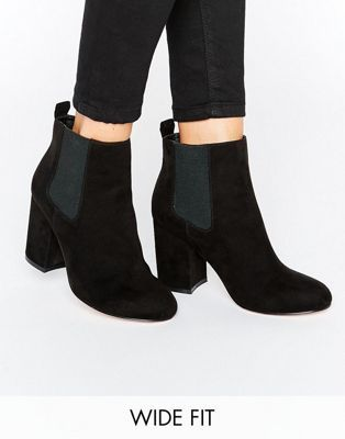 a71abedc5f98 ASOS ROBYN Wide Fit Kitten heel Chelsea Boots