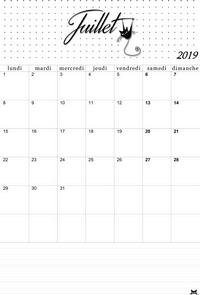 Calendrier A Imprimer Juillet 2019.Calendrier De Juillet 2019 A Imprimer Les Imprimables De