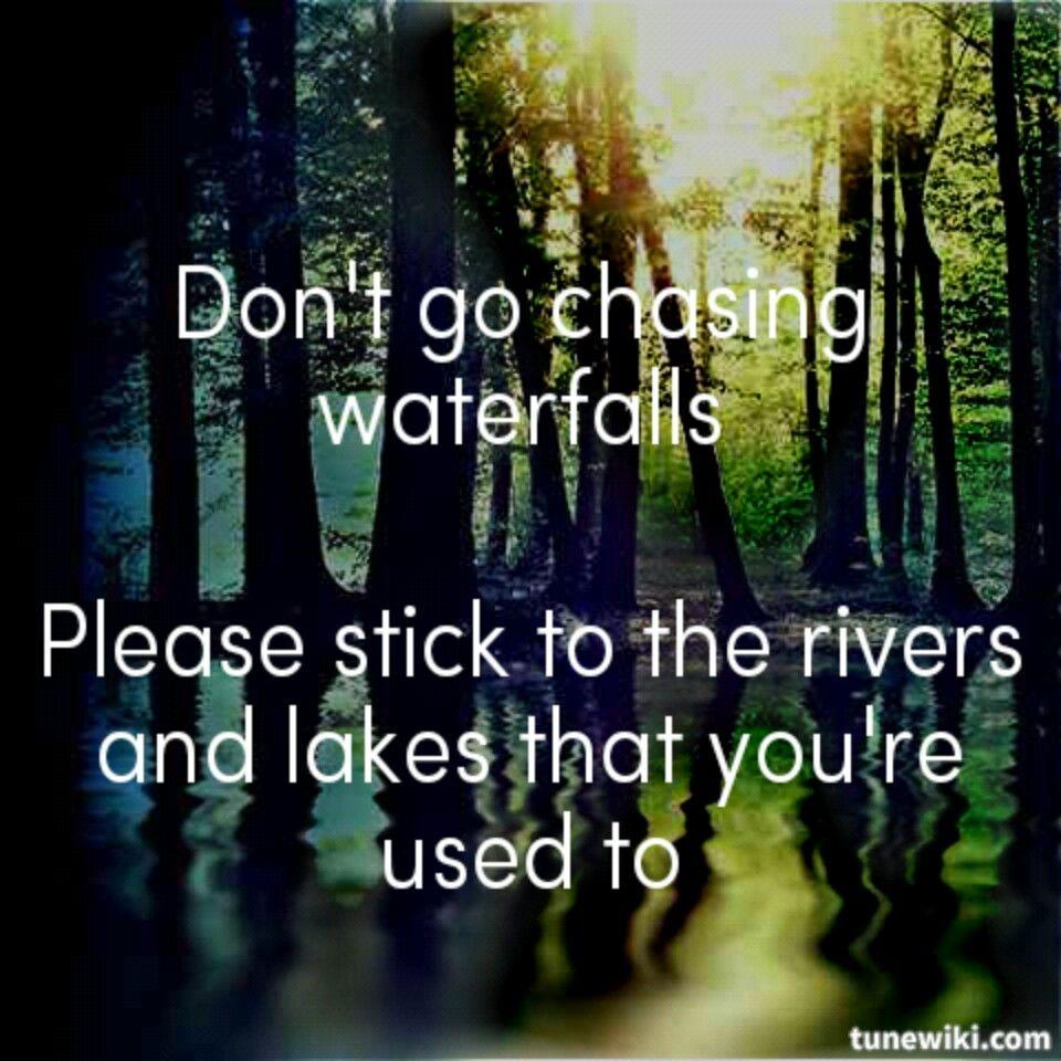 Tlc dont go chasing waterfalls lyrics