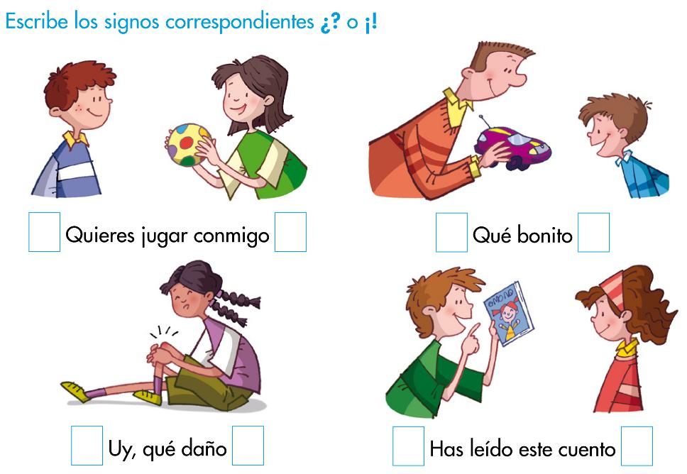 El Blog De Tercero Los Signos De Interrogación Y De Exclamación Signo De Interrogación Signos Practicas Del Lenguaje