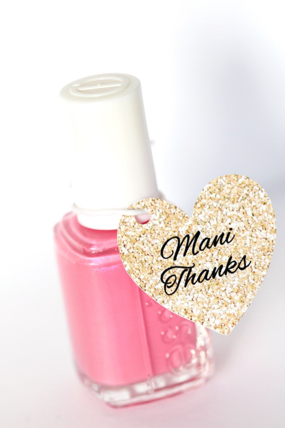 Heart Nail Polish Favor Tags, Thank You Favors, Shower Favor Tags ...