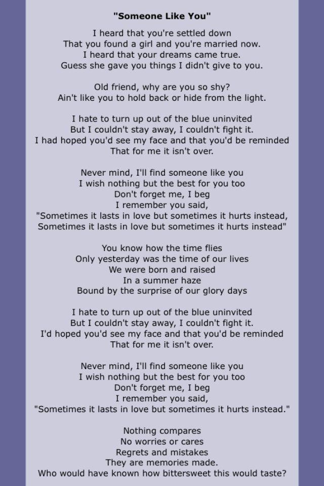 Sam And Cat Theme Song Lyrics : theme, lyrics, Adele, Believe, Lyrics, Hello, Someone