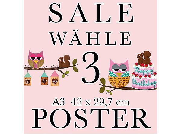 3 Poster deiner Wahl im A3 Format Poster, A4 poster