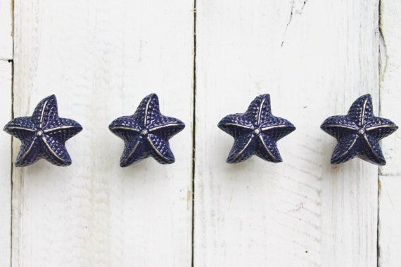 Gentil Starfish Knobs Nautical Beach Decor Cabinet Par AlacartCreations