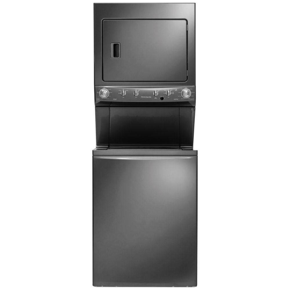 Frigidaire High-Efficiency 3.8 cu. ft. Top Load Washer and 5.5 cu. ft. Electric Dryer in Classic Slate, ENERGY STAR-FFLE4033QT