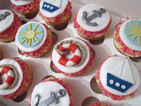 NauticalCupcakes Cupcakes Pinterest Nautical cupcake and