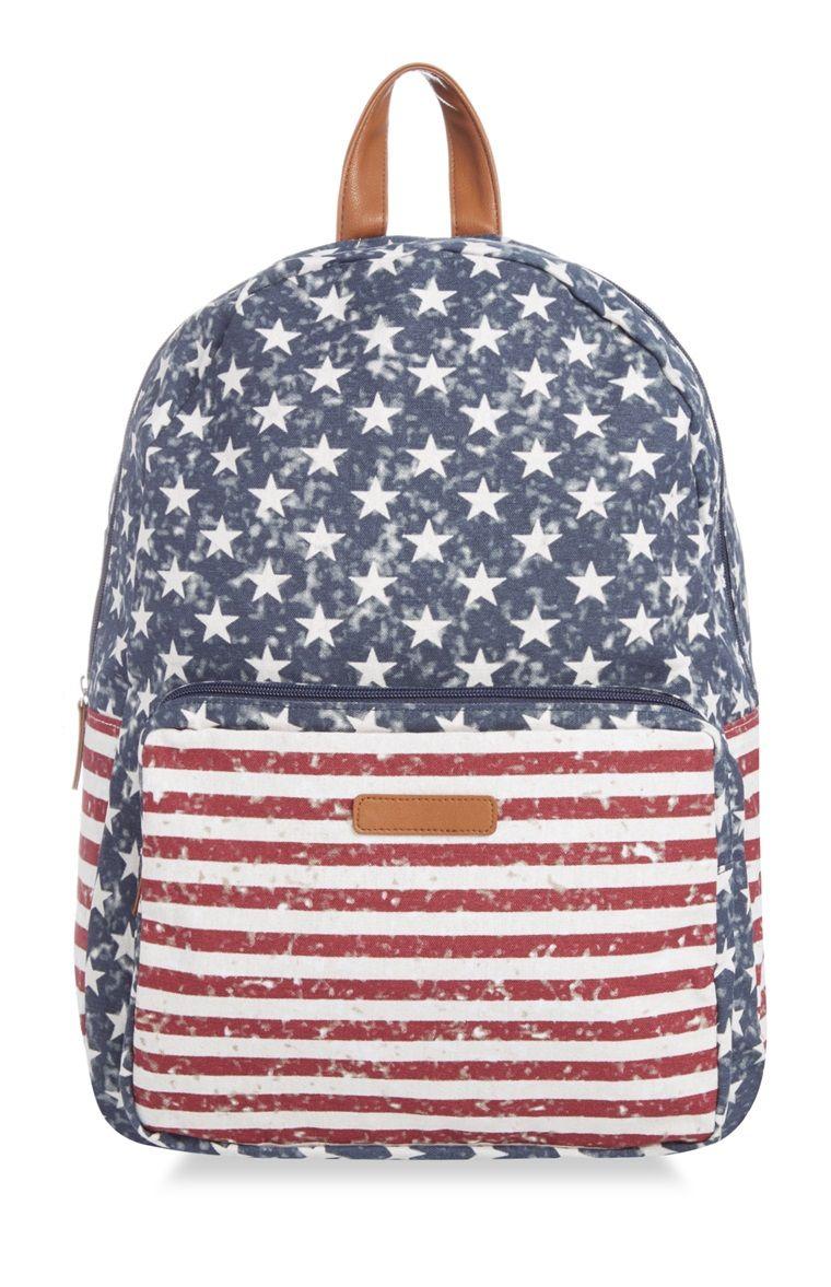 f119d88f12f Primark - Mochila de la bandera de EE. UU. | B a g s | Backpacks ...