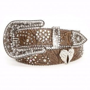 Angel Ranch Brown Floral Concho Belts