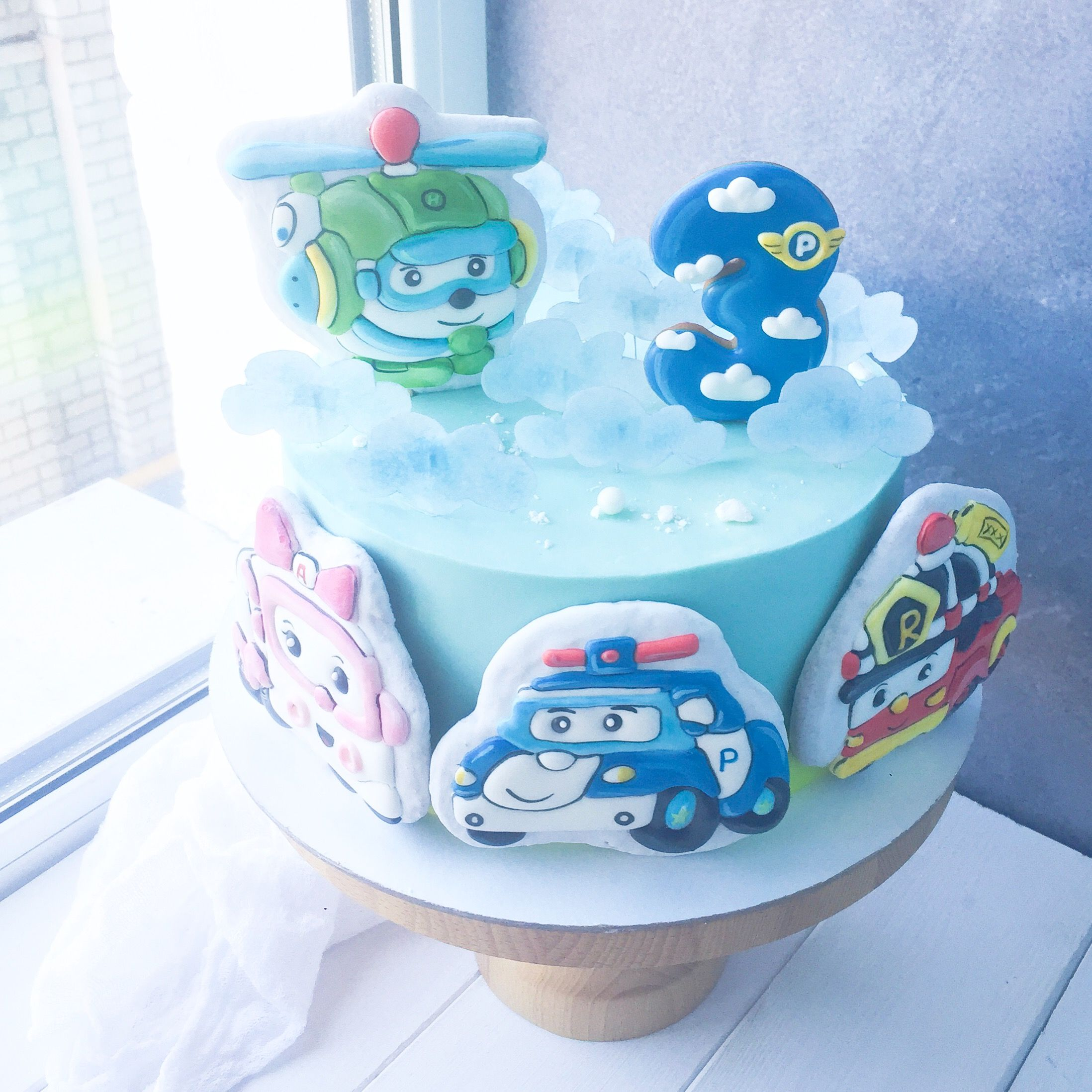 Robokop Poli I Ego Komanda Cake Birthday Cake Desserts
