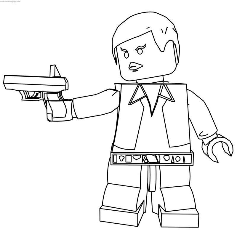 Lego Han Solo Coloring Page