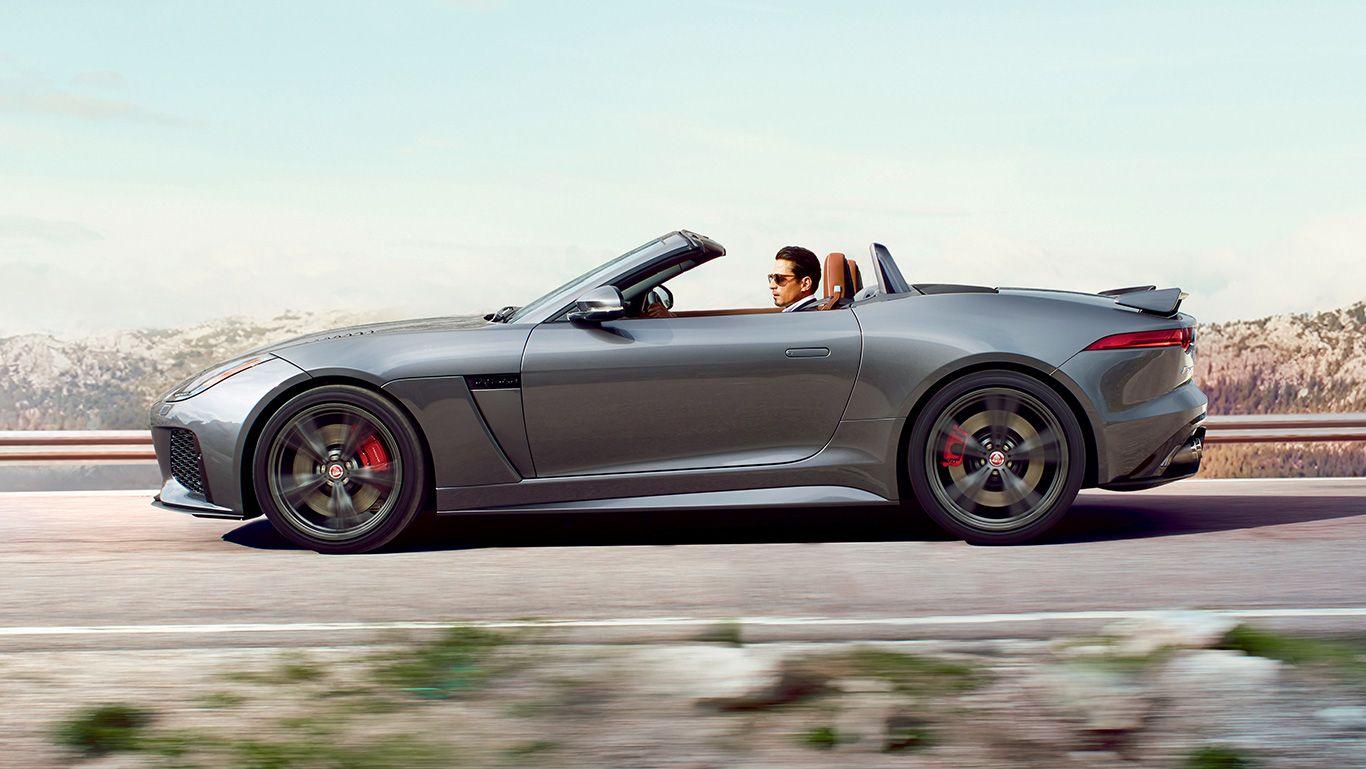 F Type Svr Convertible Shown In Ammonite Grey Jaguar F Type Jaguar Jaguar Range