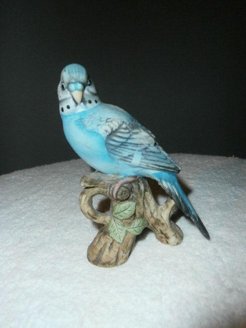 Vintage Porcelain Bird Figurine Lefton Japan by OneMoeTimeVintage