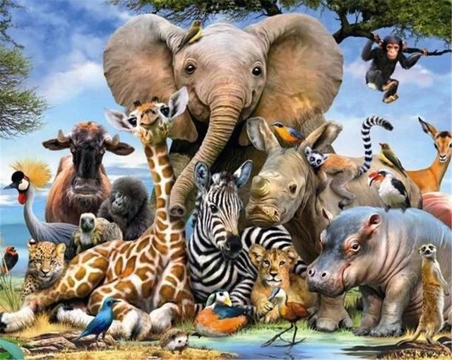 Carpets & Rugs Efficient Kids Decor Tapestry Cartoon Safari African Animals Swimming In The Lake Elephant Lions And Giraffe Art Wall Hanging Bedroom