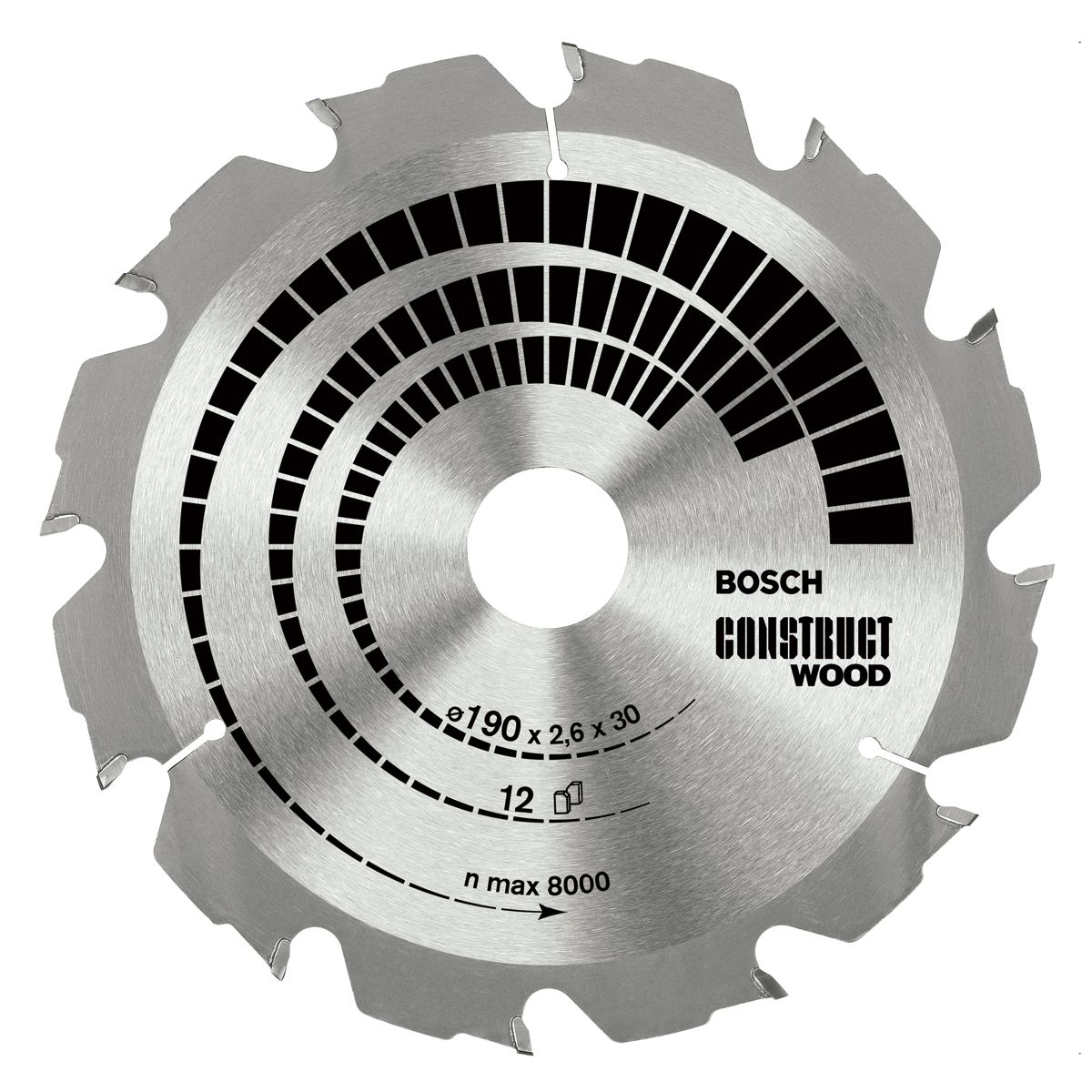 Bosch 2608640630 Construct Wood Circular Saw Blade 160mm X 20mm 12 Teeth Circular Saw Blades Table Saw Blades Saw Blade