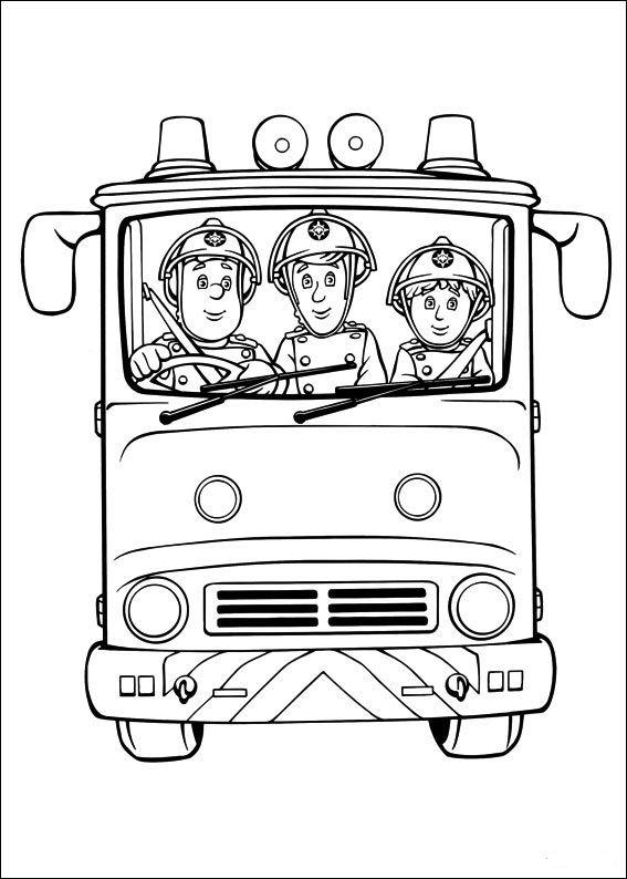 Bildergebnis Für Ausmalbild Feuerwehrmann Sam Feuerwehr