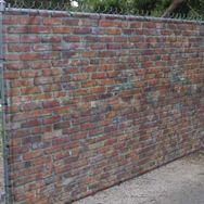 Fabric fence Fence Fabric is the original fauz stone/hedge ...