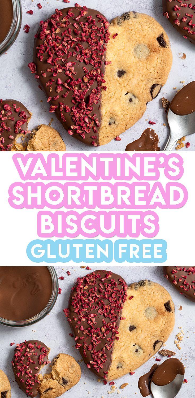Gluten free chocolate dipped shortbread hearts recipe in