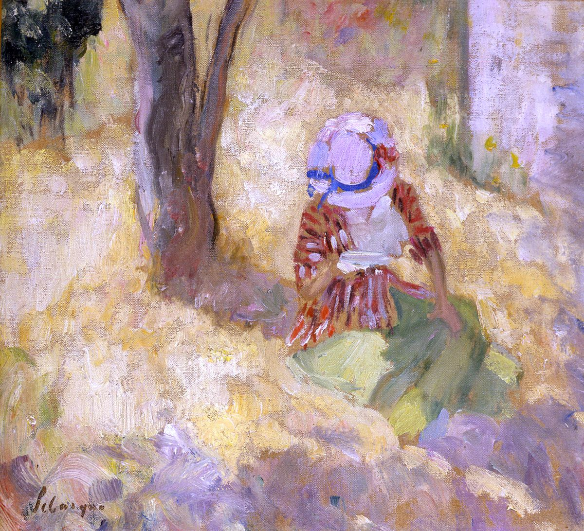 Henri Lebasque, Young girl reading