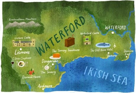 Map Of Waterford Ireland.Dermot Flynn County Waterford Tourism Map Cara Magazine Aer