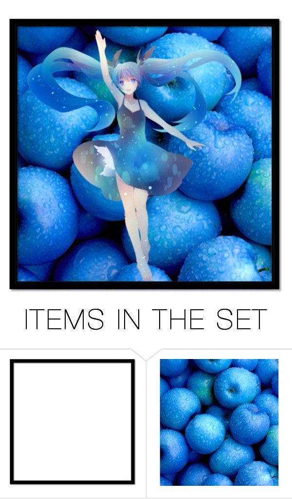 """Blue Apples"" by dita212 ❤ liked on Polyvore featuring art"