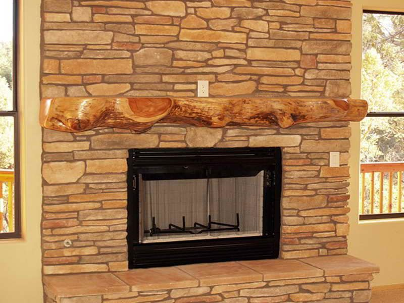 No mantel fireplace decor for Fireplace no mantle