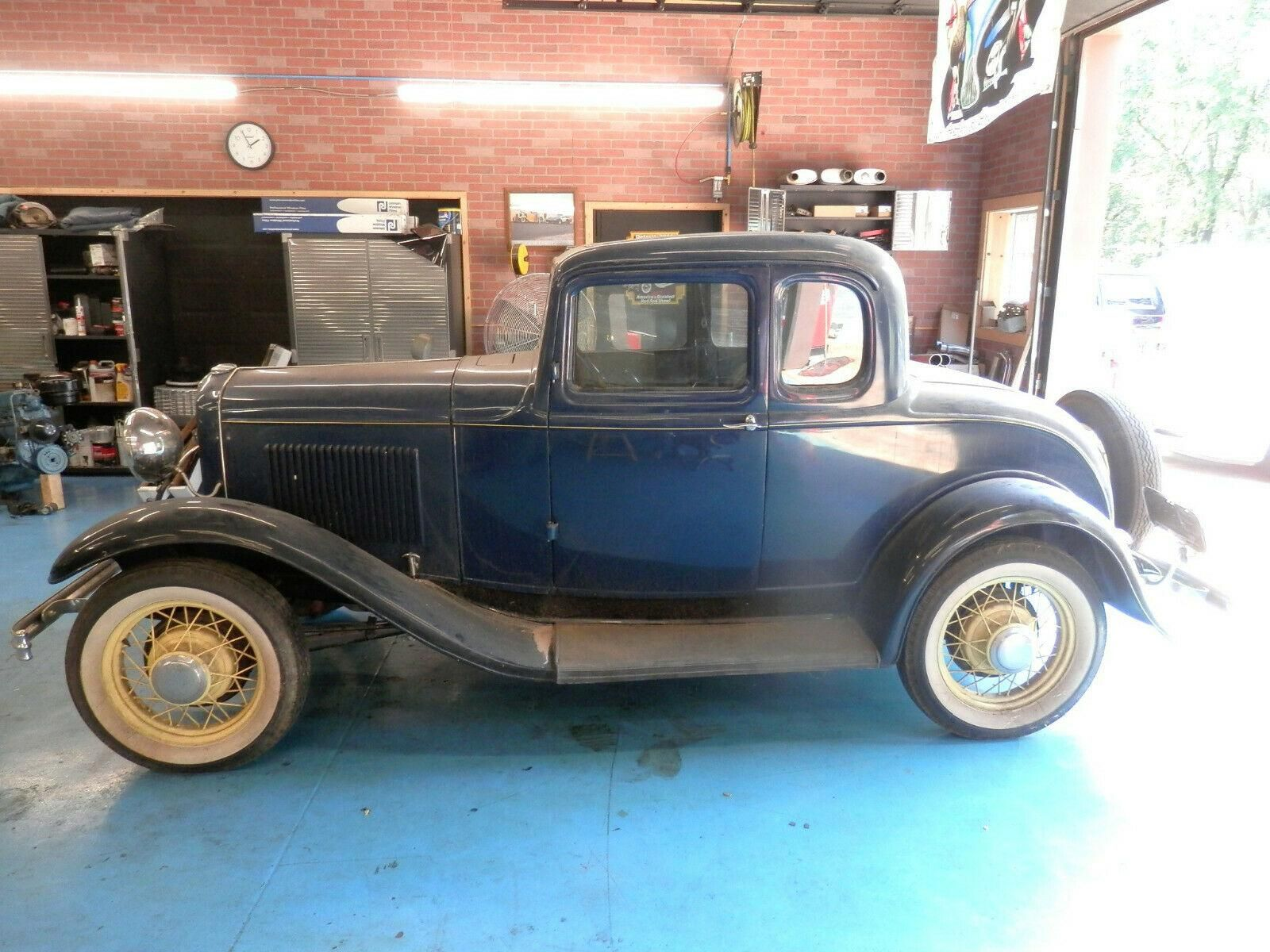 1932 Ford 5 Window 2 Door All Steel Barn Find Coupe Deluxe Five Window Flathead V8 Original Stock For Sale Muscle Cars For Sale 1932 Ford Coupe Cars For Sale