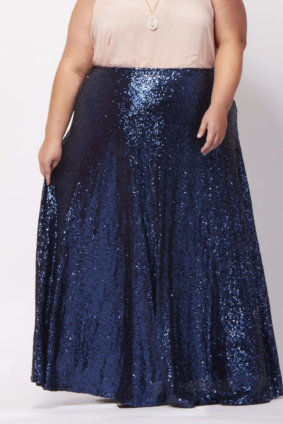 5e42d76d9 There's no doubt you'll be turning heads, maybe even breaking necks, in  this glittering glamour maxi skirt! Be red-carpet ready anytime you put  this beauty ...