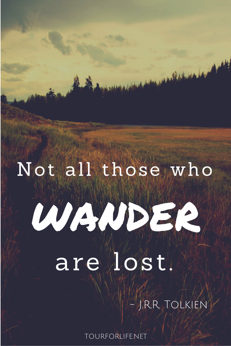Travel Quote Not All Those Who Wander Are Lost Jrr Tolkien