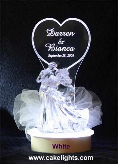 wedding cake toppers light up lighted wedding cake topper lighted personalized 26521