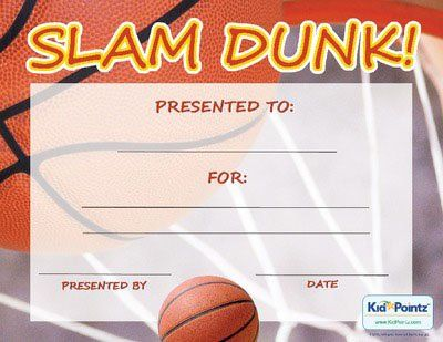 Free Printable Basketball Certificate Templates | Basketball Award