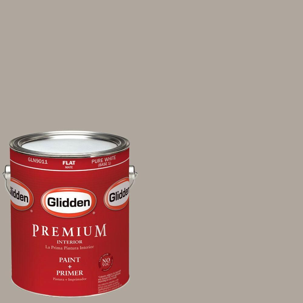 Glidden Premium 1-gal. #HDGWN51U City Loft Grey Flat Latex Interior Paint with Primer