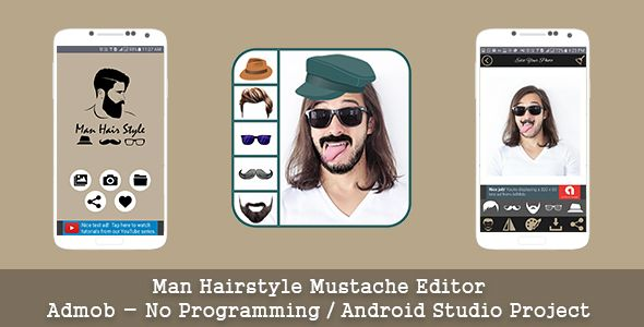 Man Hair Mustache Style Editor | Code Scripts and Plugins