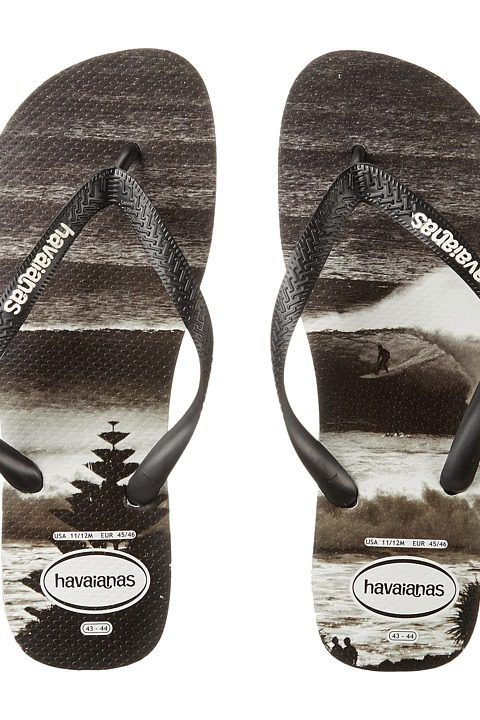 fda2f80d30e63 Havaianas Top Photoprint Sandal (Black White) Men s Sandals ...
