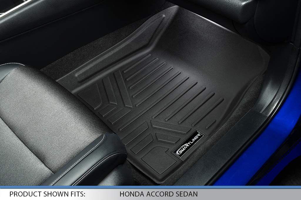Smartliner Custom Fit Floor Mats 2 Row Liner Set Black For 2018 2019 Honda Accord All Models Ad Mats Spon Row Lin Floor Mats Custom Fit Custom Floor