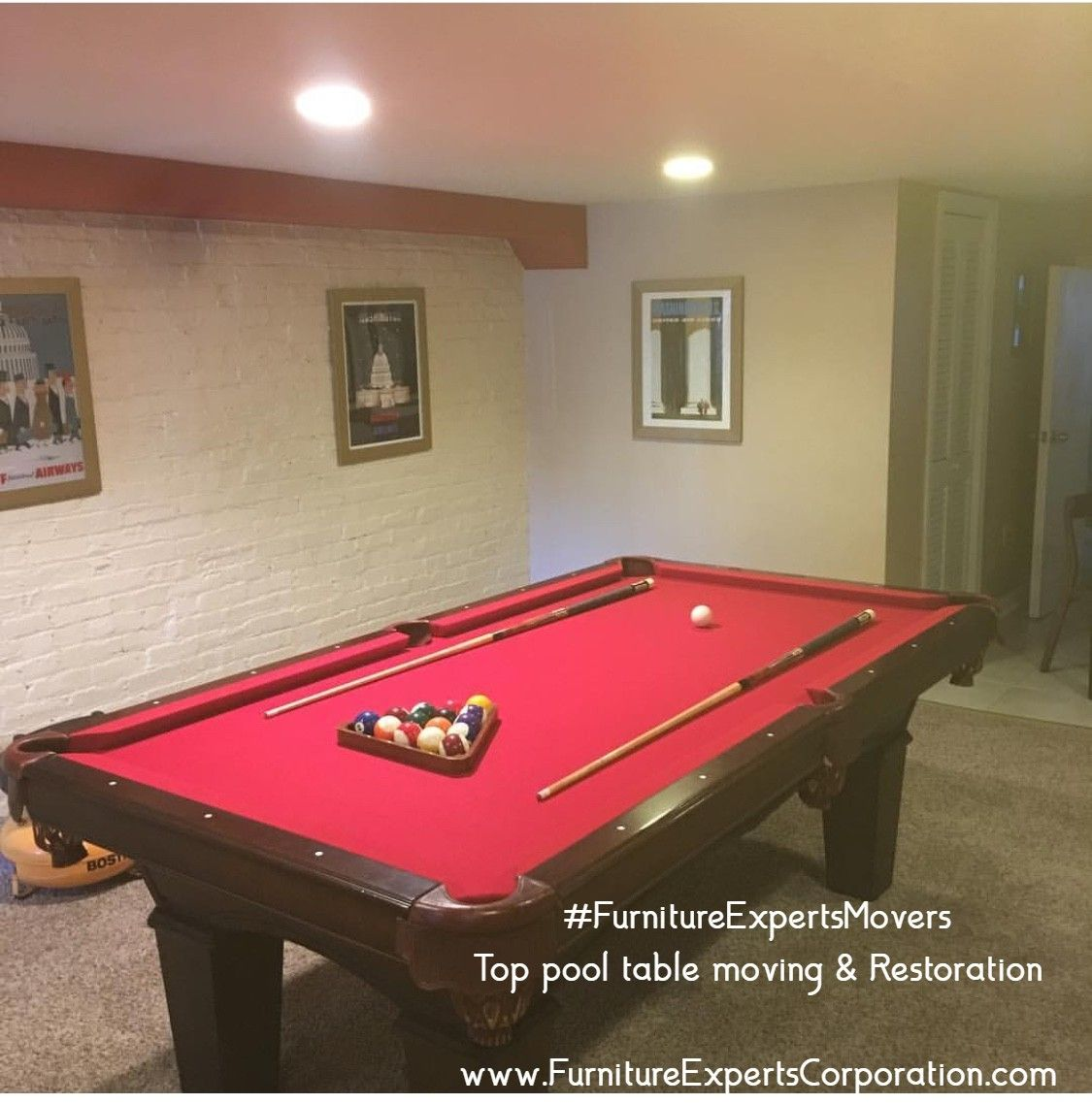 Pool table refelting | Pool table movers, Furniture ...