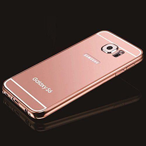 Rose Gold Mirror Samsung Galaxy S6 Case Umiko Tm Clear Mirror With Metal Bumper Back Shell Hard Ca Accesorios Para Celular Fundas Moviles Fundas Para Celular