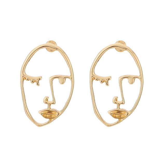 c8085bc22e503 Abstract Line/Face Earrings in 2019   首饰   Face earrings, Earrings ...