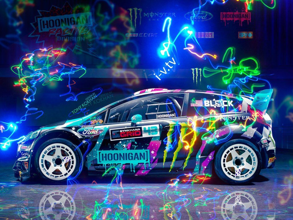Ford Ford Fiesta Compact Car Colorful Art Wallpaper Hoonigan Wallpapers Ford Fiesta Compact Cars
