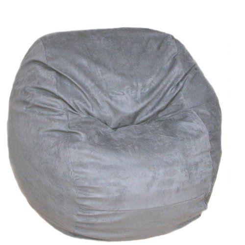 Cozy Sack Kids Foam Bean Bag Chair Grey - Small 2' | Bean ...