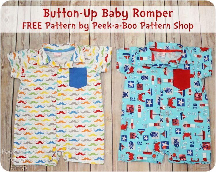 Button-Up Baby Romper FREE Pattern | Freebooks, Babys und Nähen