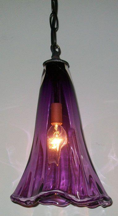Purple Crystal Pendant Lamp