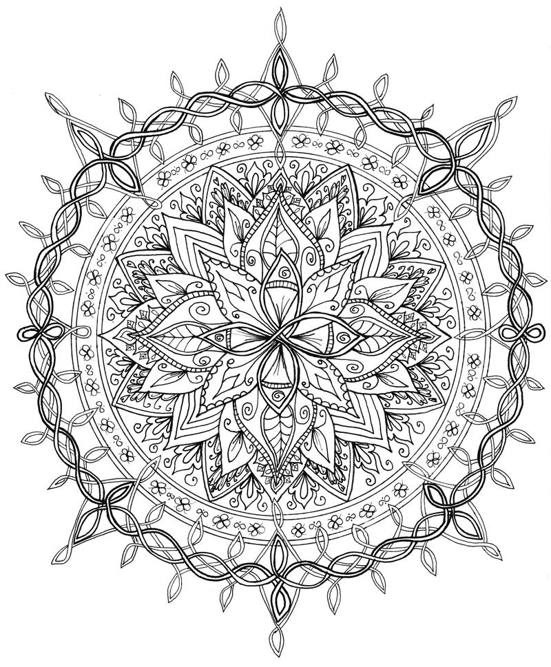 Celtic Knotwork Mandala By WelshPixie
