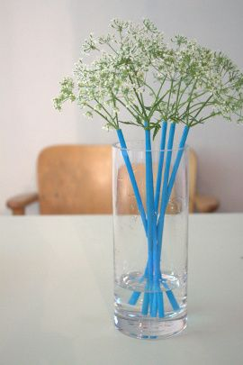 straws - when your stems are just too short!  <3 it!