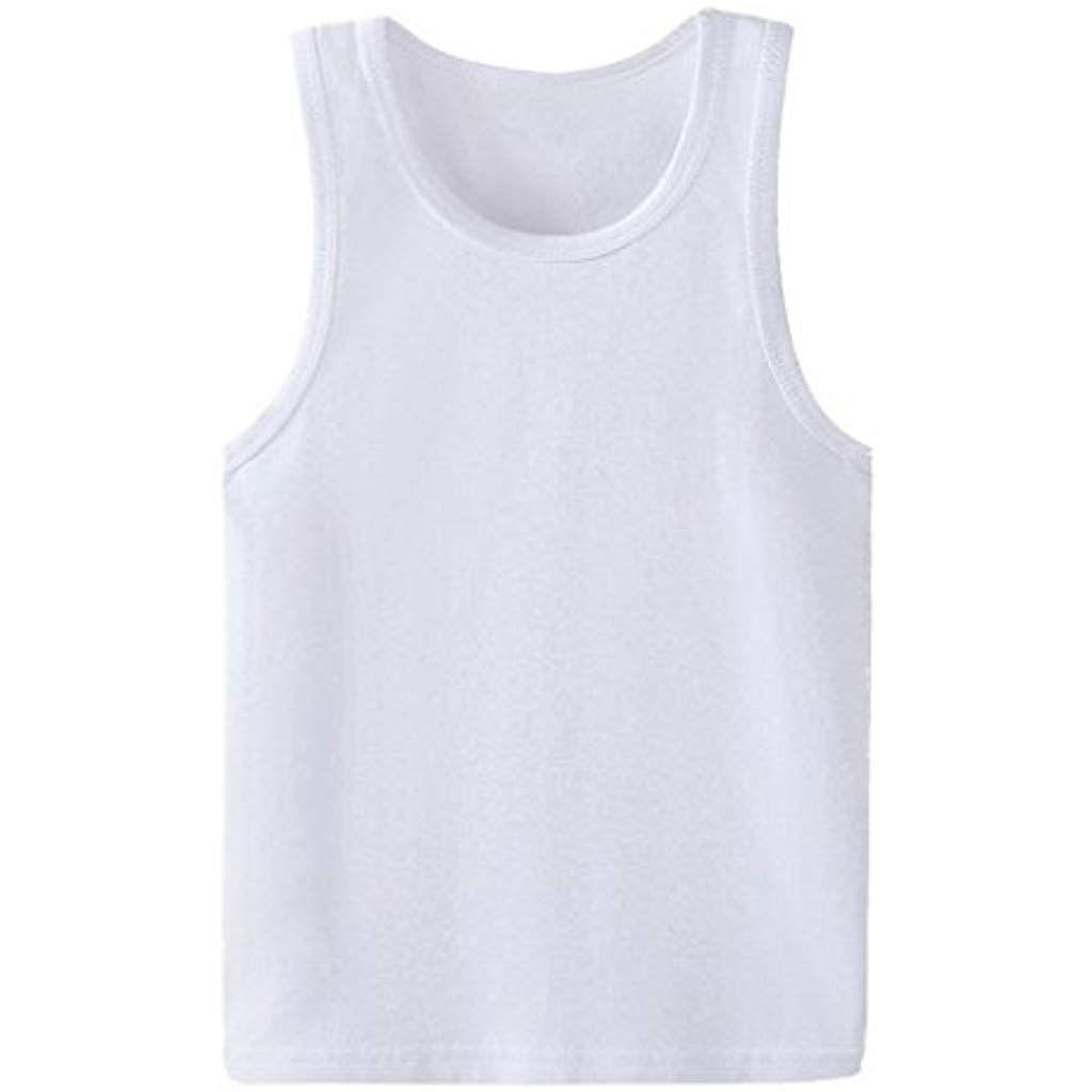 96d2587927a8c Xiang Ru Enfant Garçon Fille Débardeur T-Shirt Eté sans Manche Top Casual   débardeurs