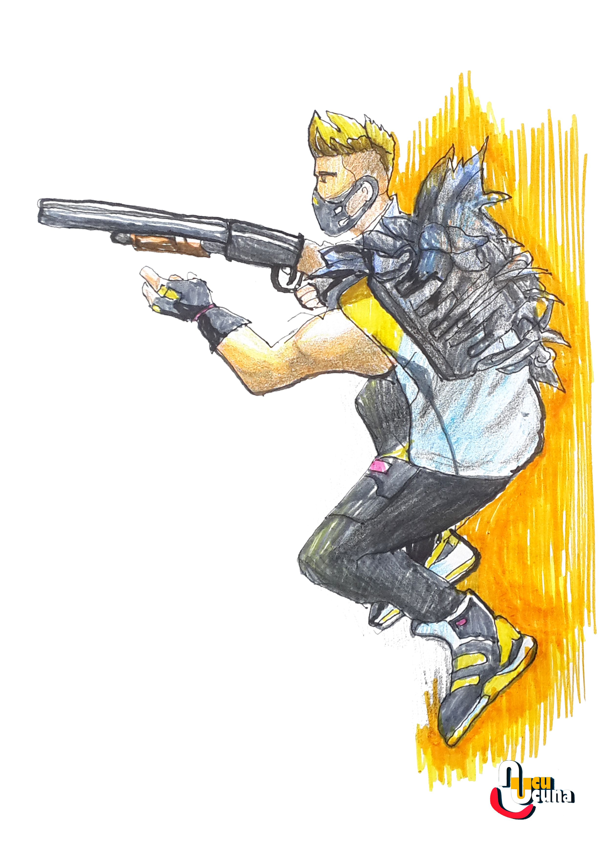 Drift Paint Learn How To Draw Drift From Fortnite Step By Step