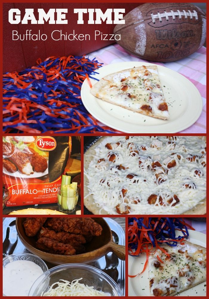 #ad Game Time Buffalo Chicken Pizza #MealsTogether #cbias