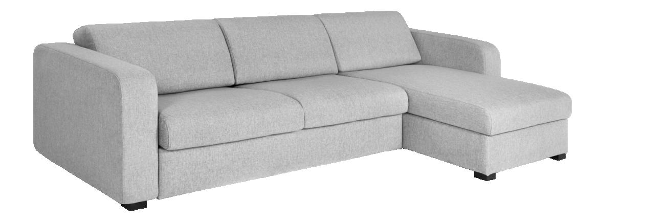 Porto 3 - Grand canapé-lit en tissu avec angle réversible et ...