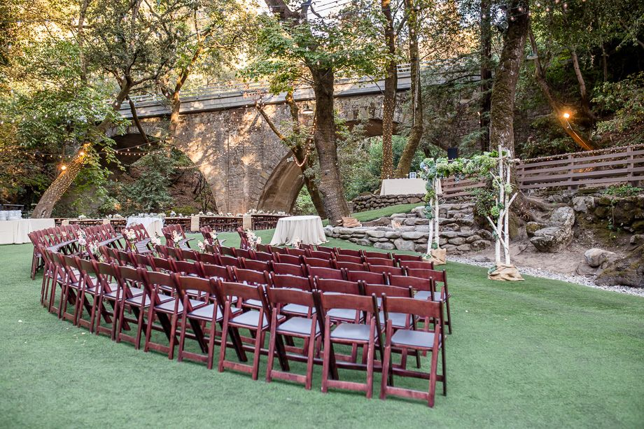 Beautiful Weddinf Ceremony Setup At Saratoga Springs Long Bridge Saratoga Springs Wedding Bay Area Wedding Venues Bay Area Wedding