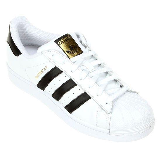 5ae174e27d Tênis Adidas Superstar Foundation - Branco+Preto Timberland Schuhe